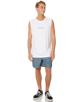 WHITE MENS CLOTHING RVCA SINGLETS - R171013WHT