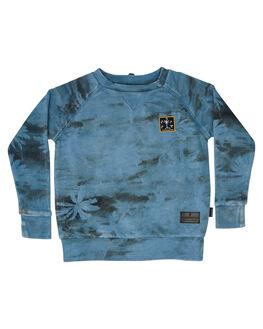 WASHED BLUE KIDS TODDLER BOYS MUNSTER KIDS JUMPERS + JACKETS - MK181FL02WBLU