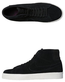 BLACK PRO PURPLE MENS FOOTWEAR NIKE SNEAKERS - SSAH6416-001M