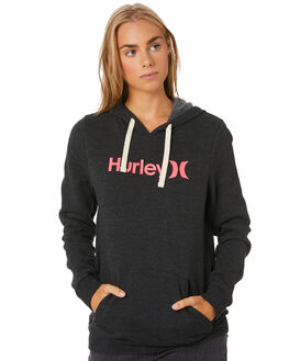 BLACK HEATHER WOMENS CLOTHING HURLEY JUMPERS - CI9431034