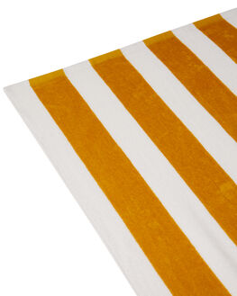MUSTARD WHITE STRIPE MENS ACCESSORIES SWELL TOWELS - S81841802MSWHS