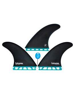 TEAL BLACK BOARDSPORTS SURF FUTURE FINS FINS - 1138-159-00TEABK