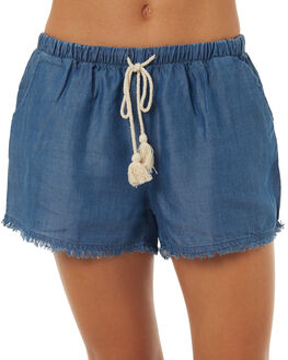DARK BLUE WOMENS CLOTHING ALL ABOUT EVE SHORTS - 6403021NVY