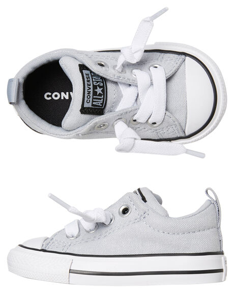 WOLF GREY KIDS BOYS CONVERSE SNEAKERS - 764180CWGRY