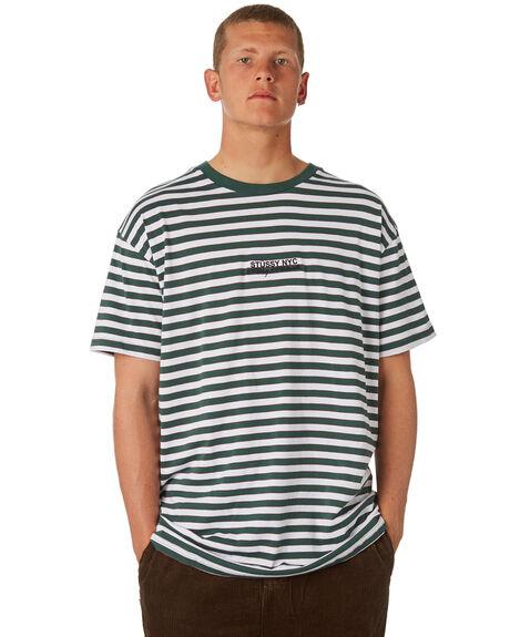 GREEN MENS CLOTHING STUSSY TEES - ST081107GREEN