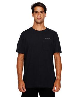 BLACK MENS CLOTHING RVCA TEES - RV-R191045-BLK