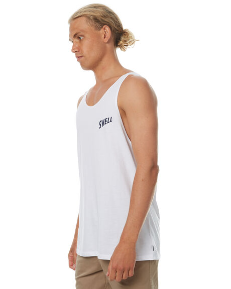 WHITE MENS CLOTHING SWELL SINGLETS - S5174277WHT