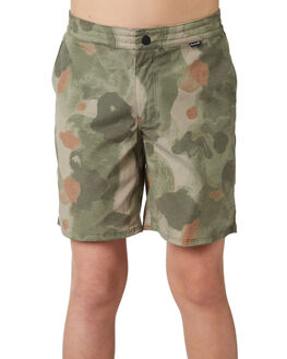OLIVE CANVAS KIDS BOYS HURLEY SHORTS - AQ4124395