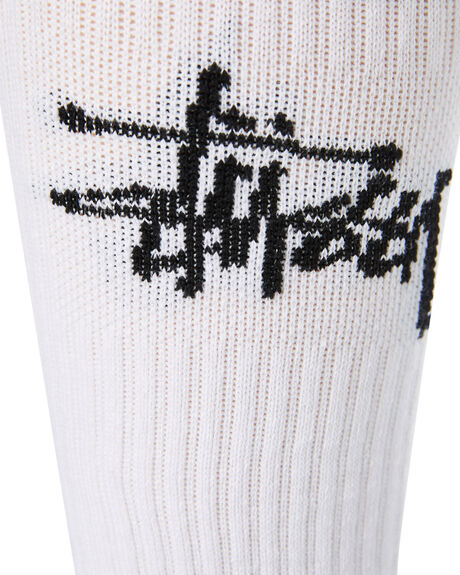 WHITE BLACK MENS CLOTHING STUSSY SOCKS + UNDERWEAR - ST791023WHTBK