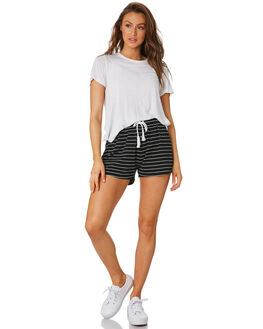 WHITE STRIPE WOMENS CLOTHING SWELL SHORTS - S8174231WHT
