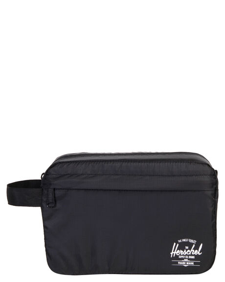 BLACK MENS ACCESSORIES HERSCHEL SUPPLY CO BAGS + BACKPACKS - 10533-00001-OSBLK