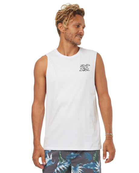 WHITE MENS CLOTHING RIP CURL SINGLETS - CTEIS21000