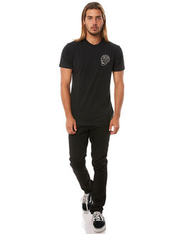 BLACK MENS CLOTHING DEUS EX MACHINA TEES - DMH31645CBLK