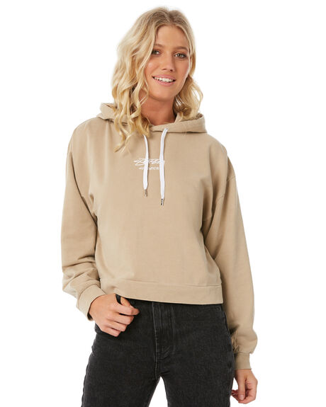 TAN WOMENS CLOTHING STUSSY JUMPERS - ST185317TAN
