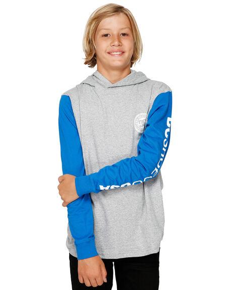 GREY HEATHER KIDS BOYS DC SHOES TOPS - EDBKT03113-KNFH