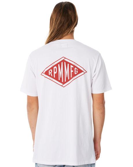 WHITE MENS CLOTHING RPM TEES - 8WMT03AWHT