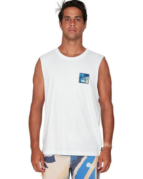 WHITE MENS CLOTHING RVCA SINGLETS - RV-R106063-WHT