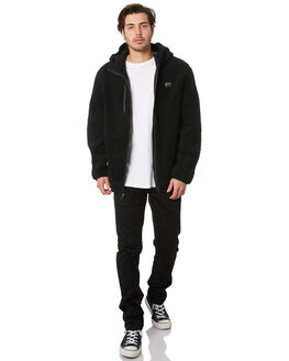 BLACK MENS CLOTHING RUSTY JUMPERS - FTM0915BLK