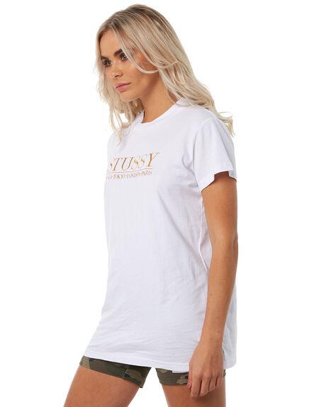 WHITE WOMENS CLOTHING STUSSY TEES - ST181005WHT