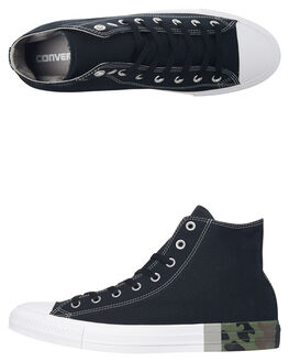 BLACK WHITE MENS FOOTWEAR CONVERSE SNEAKERS - 159549BLK