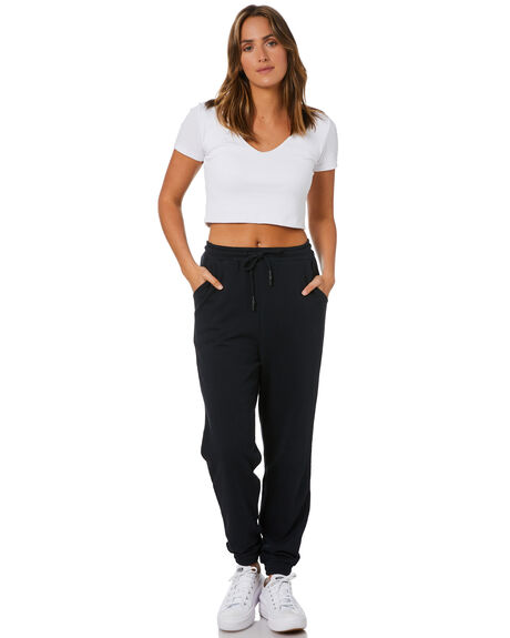 BLACK WOMENS CLOTHING SILENT THEORY PANTS - 6073065BLK