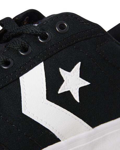 BLACK WHITE MENS FOOTWEAR CONVERSE SNEAKERS - 161603CBLK