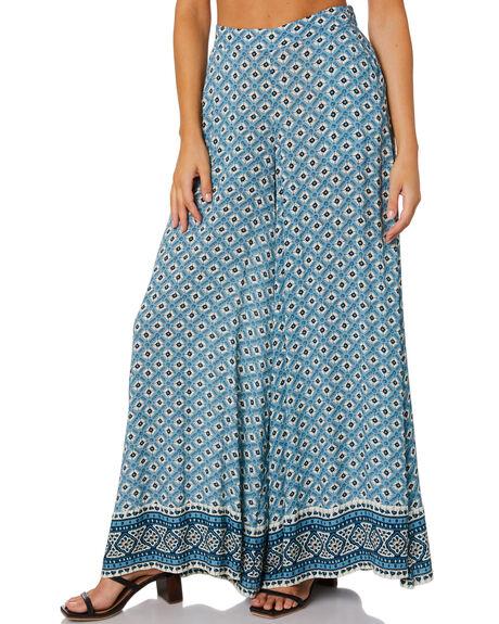 SKY BLUE WOMENS CLOTHING TIGERLILY PANTS - T601370SKY