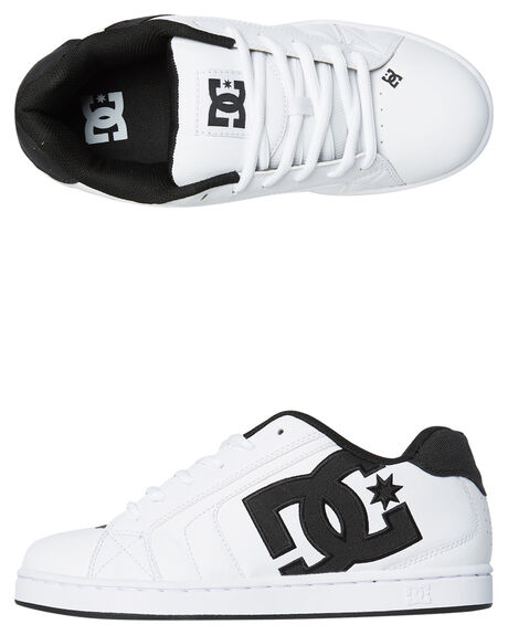 WHITE WHITE BLACK MENS FOOTWEAR DC SHOES SNEAKERS - 302297XWWK