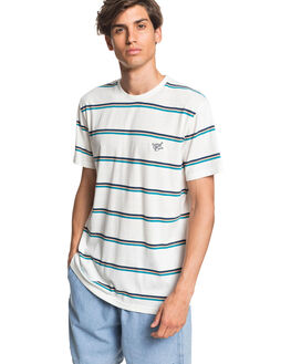 SNOW WHITE MENS CLOTHING QUIKSILVER TEES - EQYKT03963-WBK3