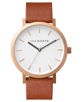 BRUSHED ROSE GOLD WALNUT MENS ACCESSORIES THE HORSE WATCHES - HORSEUNIRSGWL