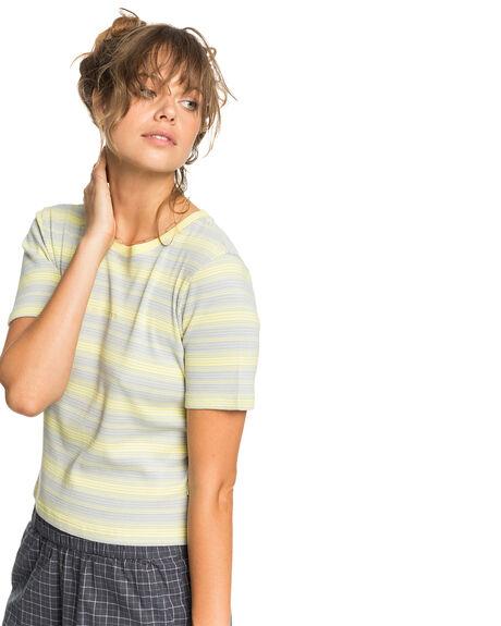 ELFIN YELLOW WOMENS CLOTHING QUIKSILVER TEES - EQWKT03056-YEC3