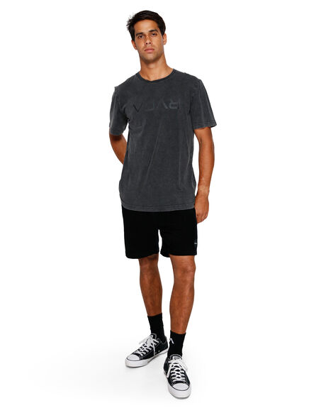 BLACK ACID MENS CLOTHING RVCA TEES - RV-R191046-252