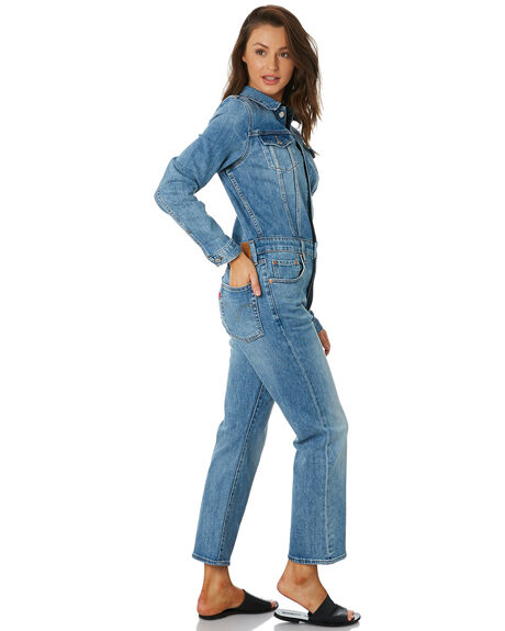 JEAN BLUE WOMENS CLOTHING LEVI'S PLAYSUITS + OVERALLS - 81862-0000