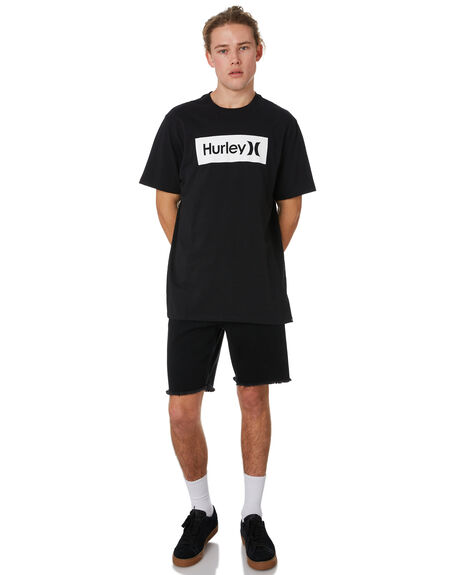 BLACK MENS CLOTHING HURLEY TEES - BV1910010