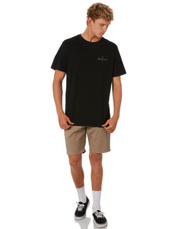 BLACK MENS CLOTHING DEPACTUS TEES - D5202012BLACK
