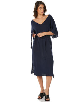 NAVY WOMENS CLOTHING ZULU AND ZEPHYR DRESSES - ZZ1490NVY