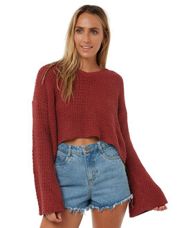 RUST OUTLET WOMENS THE HIDDEN WAY KNITS + CARDIGANS - H8182146RUST