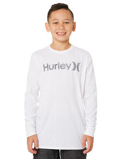 WHITE KIDS BOYS HURLEY TOPS - AO2240-100