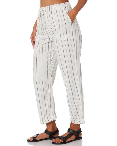 BLACK STRIPE WOMENS CLOTHING VOLCOM PANTS - B1232006BKS