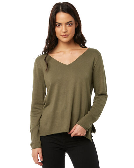 KHAKI WOMENS CLOTHING ALL ABOUT EVE KNITS + CARDIGANS - 6413030KHK