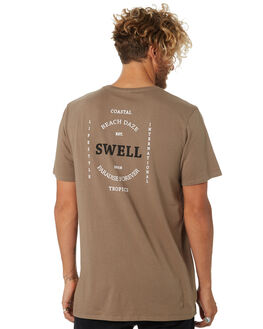 WASHED OLIVE MENS CLOTHING SWELL TEES - S5182006WSHOL