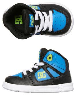 BLACK BLUE GREEN KIDS TODDLER BOYS DC SHOES FOOTWEAR - ADTS700052XKBG