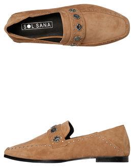 TOBACCO SUEDE WOMENS FOOTWEAR SOL SANA FLATS - SS191W307TOB