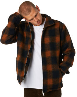 RUST MENS CLOTHING STUSSY JACKETS - ST096508RUST