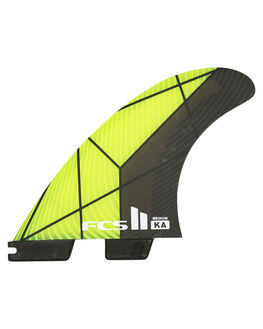 BLACK GREEN SURF HARDWARE FCS FINS - FKAM-PC02-MD-TS-RBKG