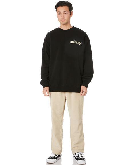 BLACK MENS CLOTHING STUSSY JUMPERS - ST007201BLK