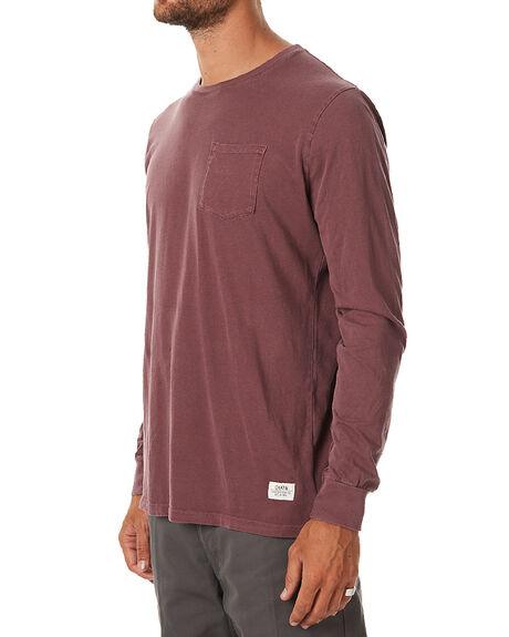 DEEP RED MENS CLOTHING KATIN TEES - KNBASIF16DRED