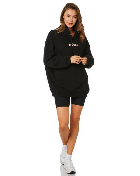 BLACK WOMENS CLOTHING STUSSY JUMPERS - ST115305BLK