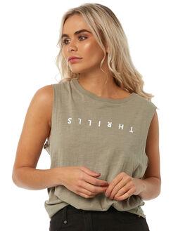 SAGE WOMENS CLOTHING THRILLS SINGLETS - WTH8-126FSAG