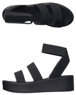 BLACK WOMENS FOOTWEAR THERAPY FASHION SANDALS - SOLE0036BLK